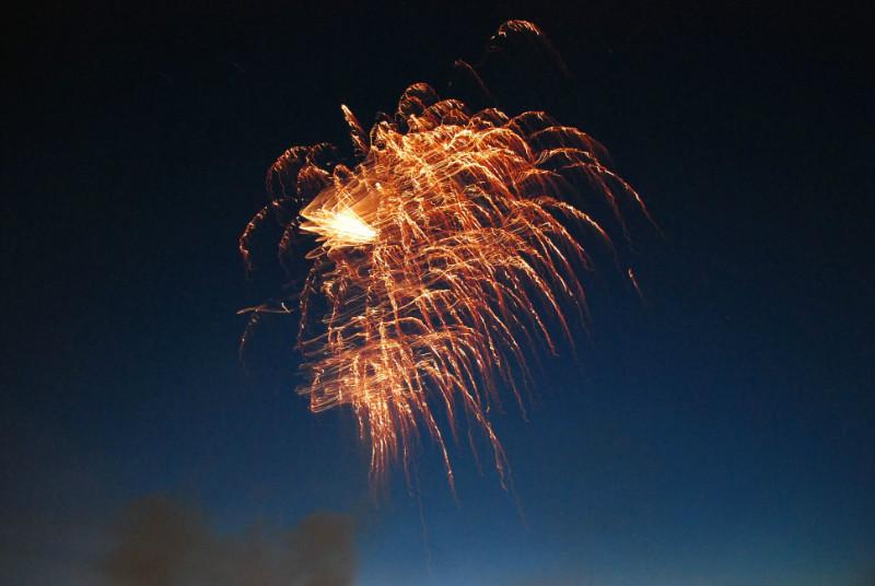 Feuerwerk gabs auch noch...